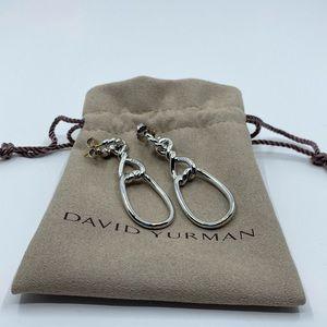 David Yurman Classic Gold Pin Shape 8 Earrings